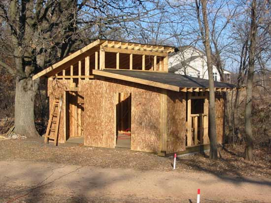Каркасный дом с односкатной крышей своими руками