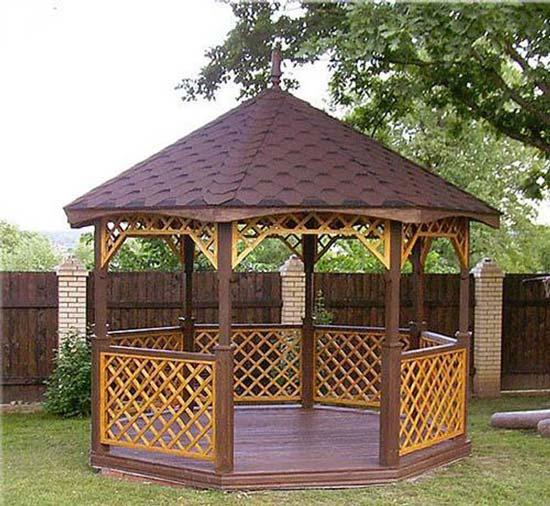 Строительство крыши для беседки