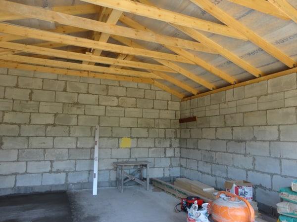 Строительство гаража из пеноблока своими руками