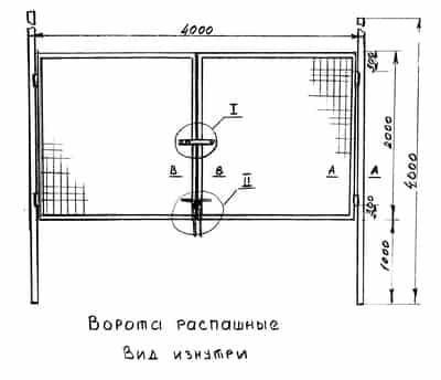 Фото — пример схемы ворот