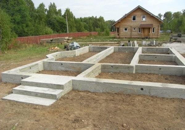 Фундаменты для домов из пеноблоков фото